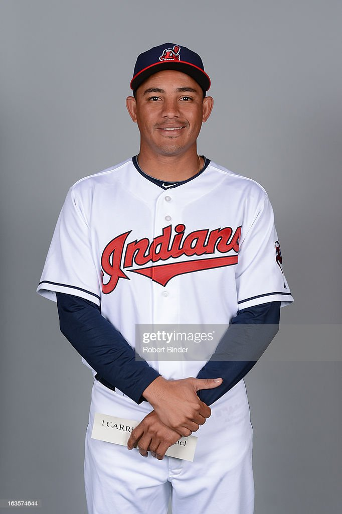 <a gi-track='captionPersonalityLinkClicked' href=/galleries/search?phrase=Ezequiel+Carrera&family=editorial&specificpeople=6778888 ng-click='$event.stopPropagation()'>Ezequiel Carrera</a> #1 of the Cleveland Indians poses during Photo Day on February 19, 2013 at Goodyear Ballpark in Goodyear, Arizona.