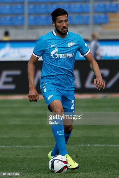 Ezequiel Garay of FC Zenit St Petersburg during the Russian Football League match between FC Zenit St Petersburg and FC Dinamo Moscow at the...