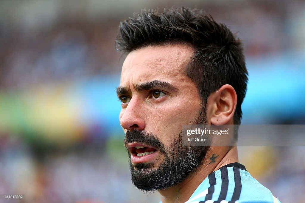 <a gi-track='captionPersonalityLinkClicked' href=/galleries/search?phrase=Ezequiel+Lavezzi&family=editorial&specificpeople=5451126 ng-click='$event.stopPropagation()'>Ezequiel Lavezzi</a> of Argentina looks on during the 2014 FIFA World Cup Brazil Group F match between Nigeria and Argentina at Estadio Beira-Rio on June 25, 2014 in Porto Alegre, Brazil.