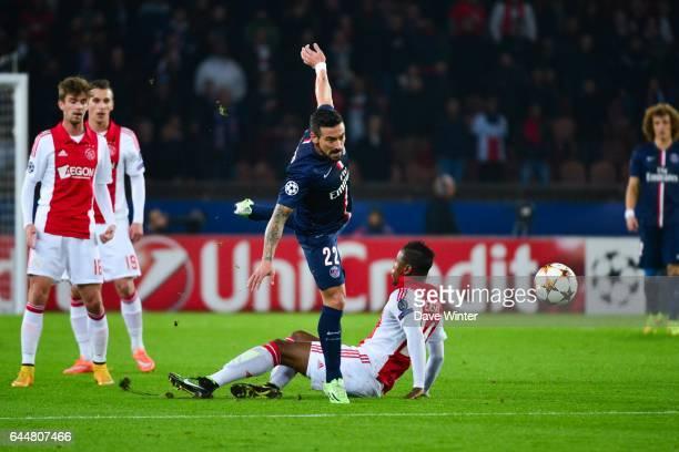Ezequiel LAVEZZI / Stefano DENSWIL Paris Saint Germain / Ajax Amsterdam Champions League Photo Dave Winter / Icon Sport