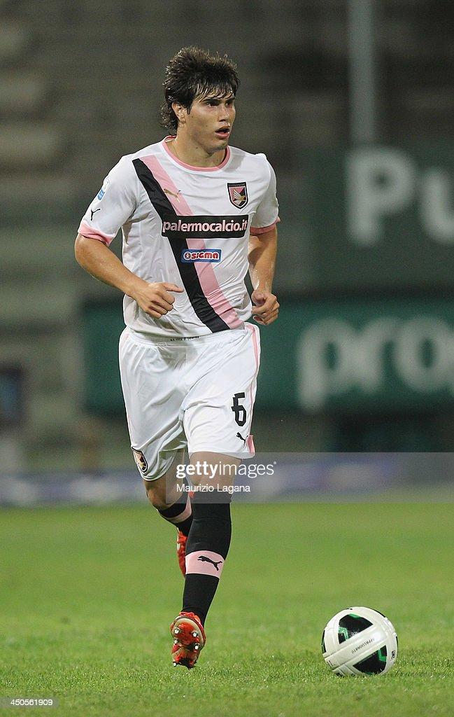 Ezequiel Munoz of Palermo during the Serie B match between Reggina Calcio and US Citta di Palermo at Stadio Oreste Granillo on November 16, 2013 in Reggio Calabria, Italy.