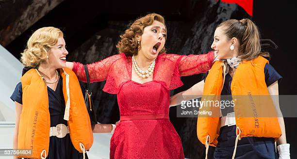 Ezgi Kutlu as Isabella performs on stage during a performance of L'italiana in Algeri at Garsington Opera at Wormsley on June 1 2016 in High Wycombe...