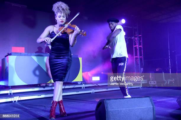Ezinma performs on stage at BACARDI Swizz Beatz and The Dean Collection bring NO COMMISSION back to Miami to celebrate 'Island Might' at Soho Studios...