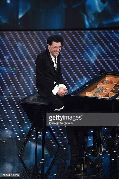 Ezio Bosso attends second night of the 66th Festival di Sanremo 2016 at Teatro Ariston on February 10 2016 in Sanremo Italy