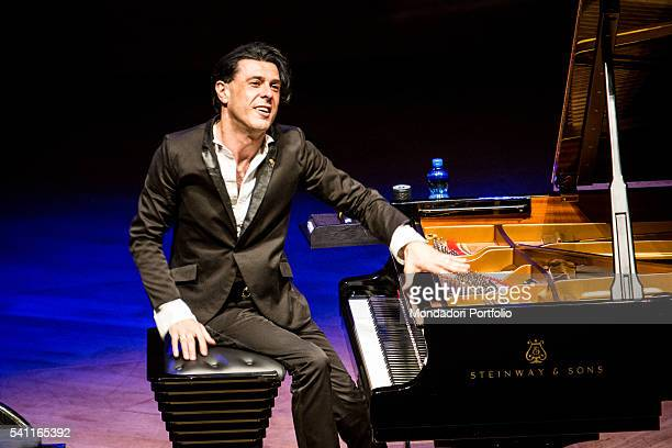 Ezio Bosso pianist composer and conductor from Turin in concert at Teatro Dal Verme The 12th Room Tour Milan 3rd May 2016