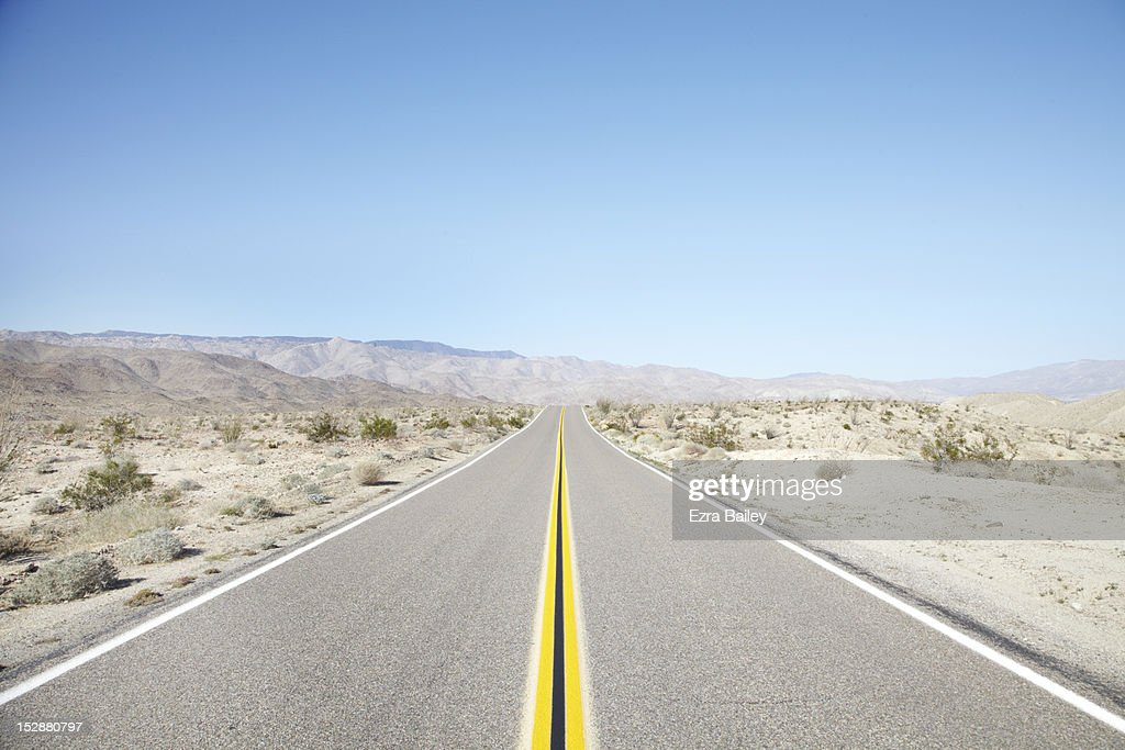 The open road in America : Stock Photo