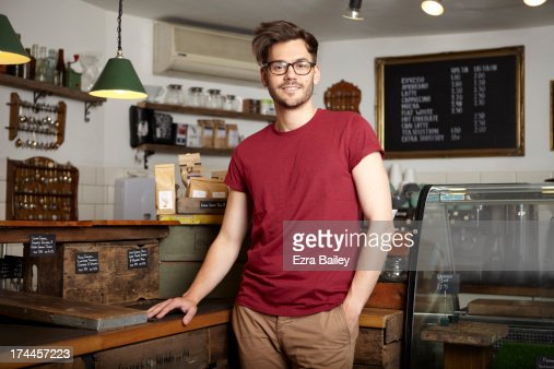 Portrait of the owner of a coffee shop