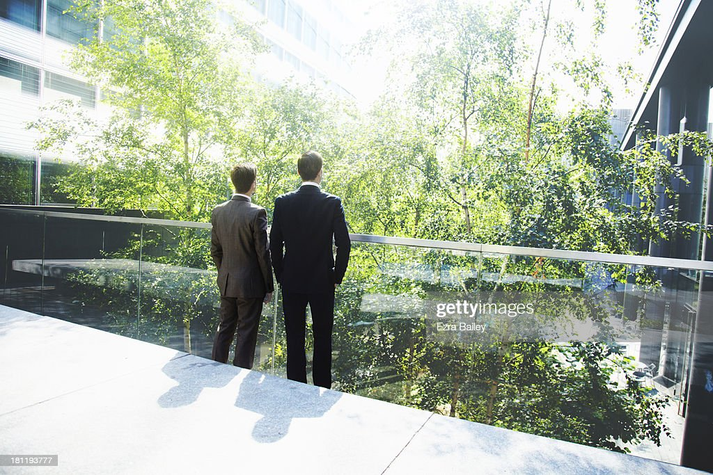 Two business discussing green energy.