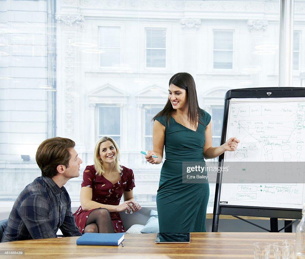 Colleagues in a planning meeting. : Stock Photo