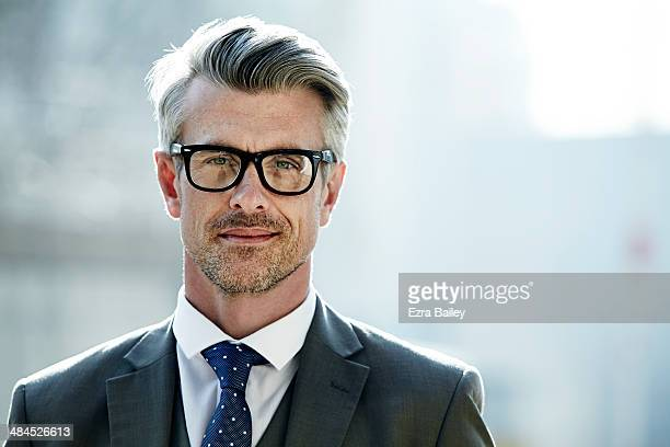 Portrait of a businessman wearing glasses.