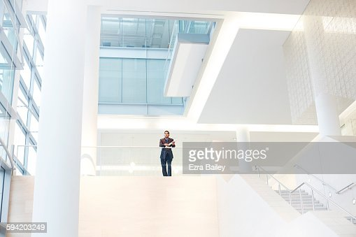 Businessman in a graphic modern office.