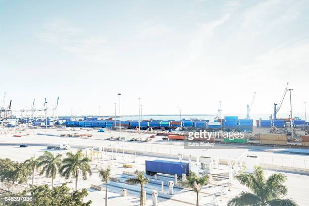 Industrial container port