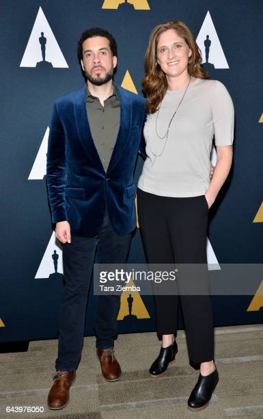 Ezra Edelman and Caroline Waterlow attend the 89th Annual Academy Awards Oscar week reception for nominated films in the Documentary category at...