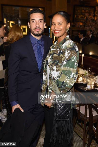 Ezra Edelman and Joy Bryant attend the CHANEL Tribeca Film Festival Artists Dinner at Balthazar on April 24 2017 in New York City