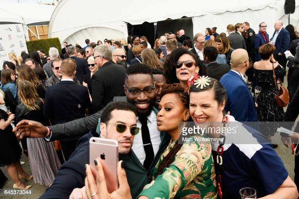 Ezra Edelman Tarell Alvin McCraney Ava DuVernay and Kirsten Johnson attend the 2017 Film Independent Spirit Awards at the Santa Monica Pier on...