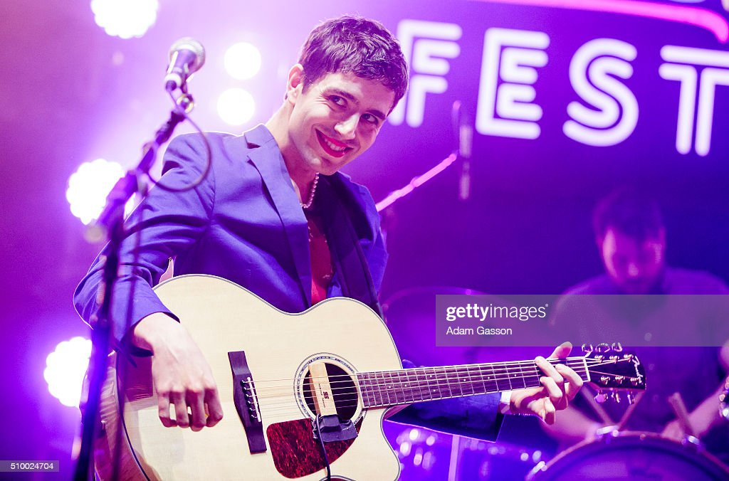 Ezra Furman performs on the second day of the BBC 6 Music Festival at Colston Hall on February 13, 2016 in Bristol, England.
