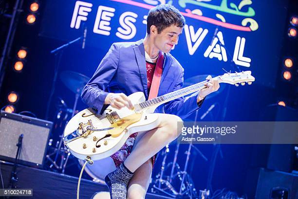 Ezra Furman performs on the second day of the BBC 6 Music Festival at Colston Hall on February 13 2016 in Bristol England