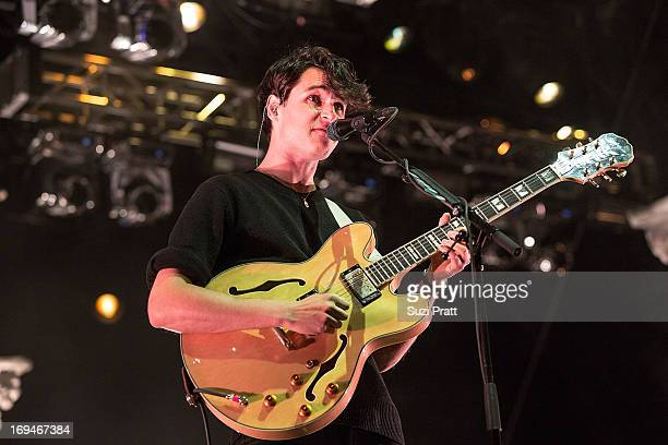 Ezra Koenig of Vampire Weekend performs live at the Sasquatch Music Festival at The Gorge on May 24 2013 in George Washington