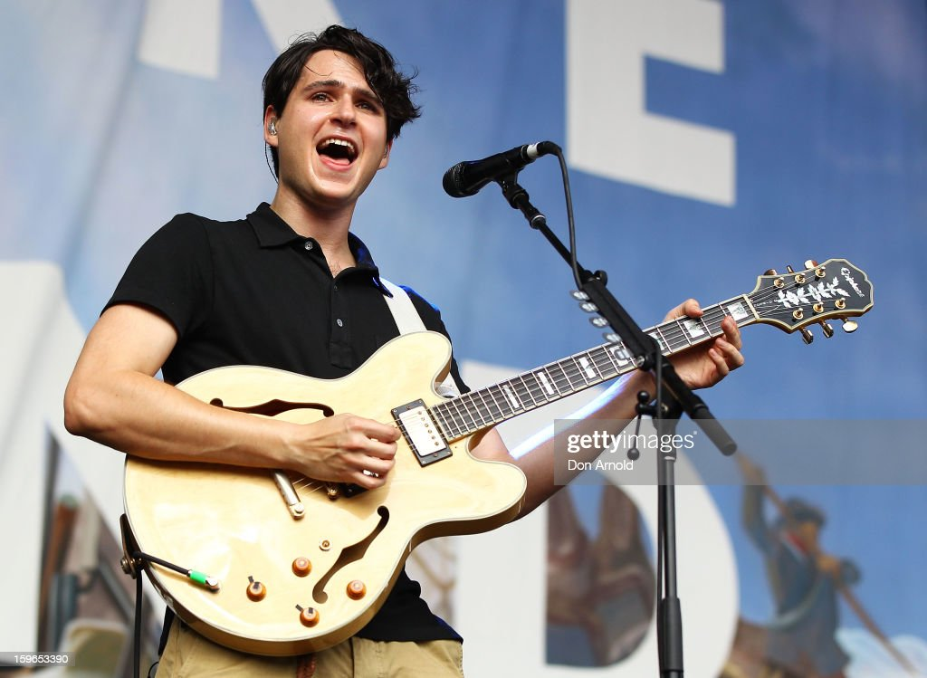 Ezra Koenig of Vampire Weekend performs live on stage at Big Day Out 2013 at Sydney Showground on January 18, 2013 in Sydney, Australia.
