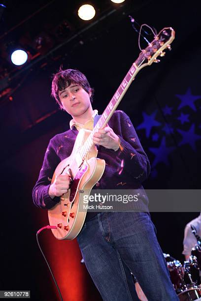 Ezra Koenig of Vampire Weekend performs on stage at The Bowery Ballroom on January 30th 2008 in New York
