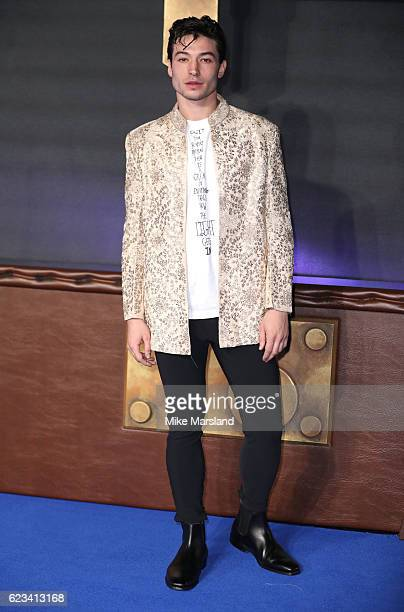 Ezra Miller attends the European premiere of 'Fantastic Beasts And Where To Find Them' at Odeon Leicester Square on November 15 2016 in London England