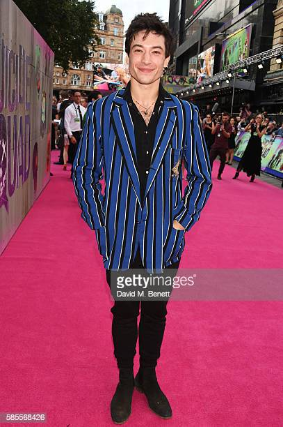 Ezra Miller attends the European Premiere of 'Suicide Squad' at Odeon Leicester Square on August 3 2016 in London England