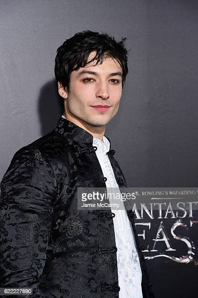 Ezra Miller attends the 'Fantastic Beasts And Where To Find Them' World Premiere at Alice Tully Hall Lincoln Center on November 10 2016 in New York...