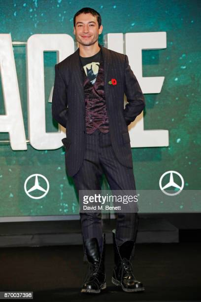 Ezra Miller attends the 'Justice League' photocall at The College on November 4 2017 in London England