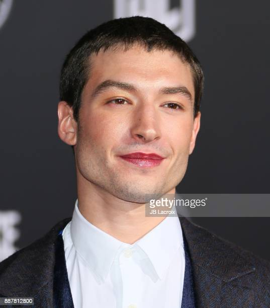 Ezra Miller attends the premiere of Warner Bros Pictures' 'Justice League' on November 13 2017 in Los Angeles California