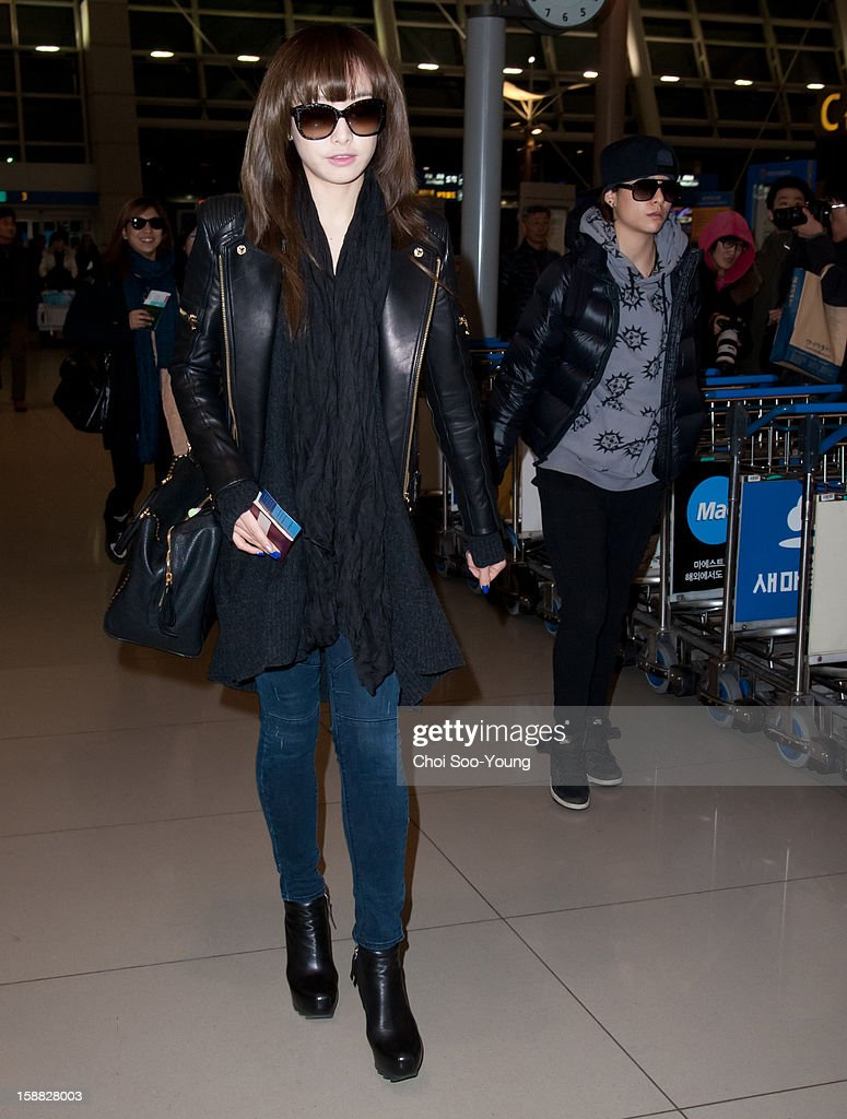 f(x) is seen at Incheon International Airport on December 22, 2012 in Incheon, South Korea.