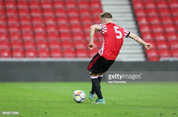 f Sunderland captain Tom Beadling scores from the penalty spot for the second Sunderland goal during the Premier League International Cup match...
