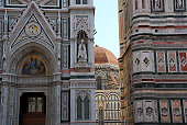 Façade of Santa Maria di Fiore Cathedral, Florence, Italy