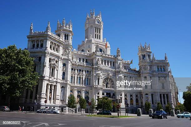 Façade of the City Hall of Madrid, Spain