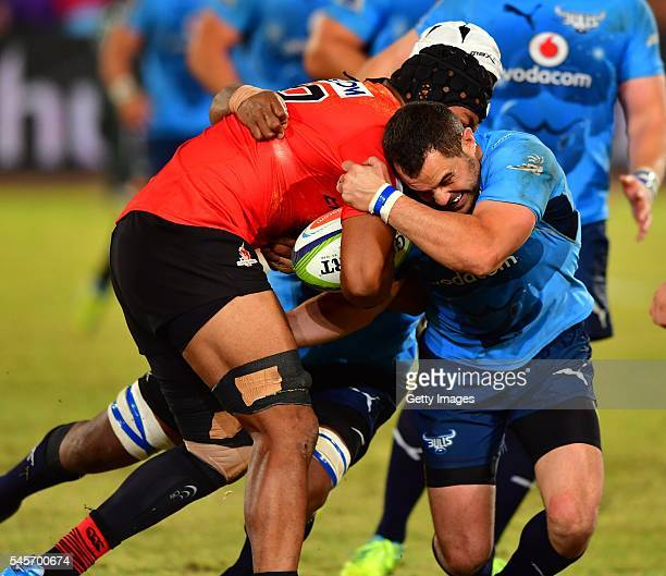 Faatiga Lemalu during the Super Rugby match between Vodacom Bulls and Sunwolves at Loftus Versfeld on July 09 2016 in Pretoria South Africa