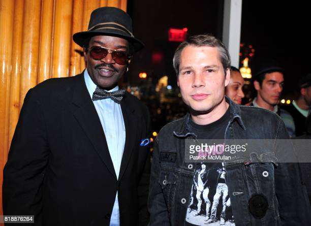 Fab 5 Freddy and Shepard Fairey attend NOWNESS Presents the New York Premiere of JeanMichel Basquiat The Radiant Child at MoMa on April 27 2010 in...