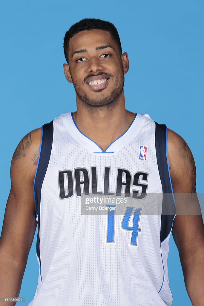 <a gi-track='captionPersonalityLinkClicked' href=/galleries/search?phrase=Fab+Melo&family=editorial&specificpeople=7366439 ng-click='$event.stopPropagation()'>Fab Melo</a> #14 of the Dallas Mavericks poses for a headshot at the Dallas Mavericks 2013-2014 Media Day on September 30, 2013 at the American Airlines Center in Dallas, Texas.