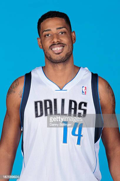 Fab Melo of the Dallas Mavericks poses for a headshot at the Dallas Mavericks 20132014 Media Day on September 30 2013 at the American Airlines Center...