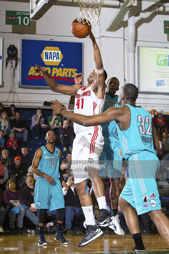 <a gi-track='captionPersonalityLinkClicked' href=/galleries/search?phrase=Fab+Melo&family=editorial&specificpeople=7366439 ng-click='$event.stopPropagation()'>Fab Melo</a> #41 of the Maine Red Claws pulls in an offensive rebound against the Sioux Falls Skyforce on December 2, 2012 at the Portland Expo in Portland, Maine.