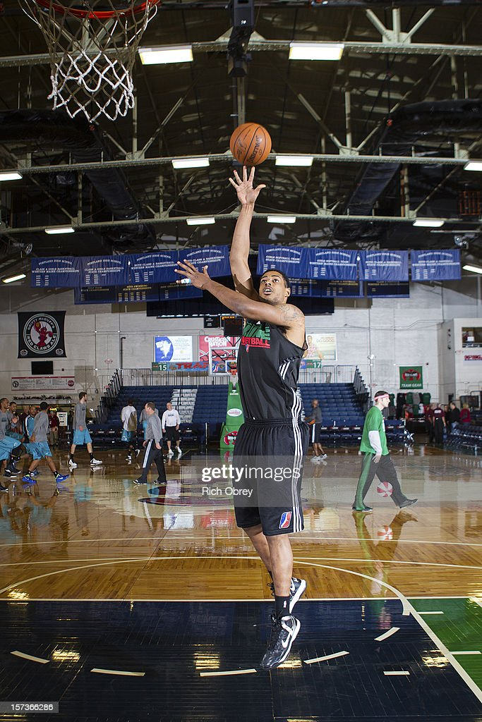 <a gi-track='captionPersonalityLinkClicked' href=/galleries/search?phrase=Fab+Melo&family=editorial&specificpeople=7366439 ng-click='$event.stopPropagation()'>Fab Melo</a> #41 of the Maine Red Claws warms up before the game against the Sioux Falls Skyforce on December 2, 2012 at the Portland Expo in Portland, Maine.