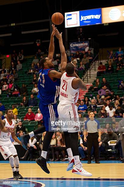 Fab Melo of the Texas Legends shoots the ball during the game against the Rio Grande Valley Vipers on February 1 2014 at Dr Pepper Arena in Frisco...