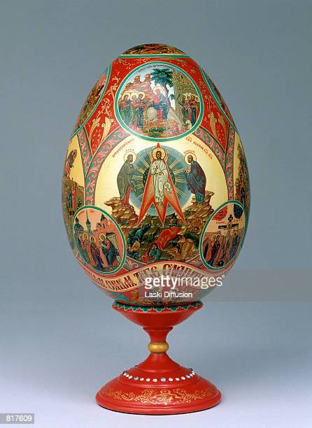 Faberge Egg from the Kremlin Museum collection in Moscow Russia March 2001 The eggs were first designed in 1884 by the artist Peter Carl Faberge who...