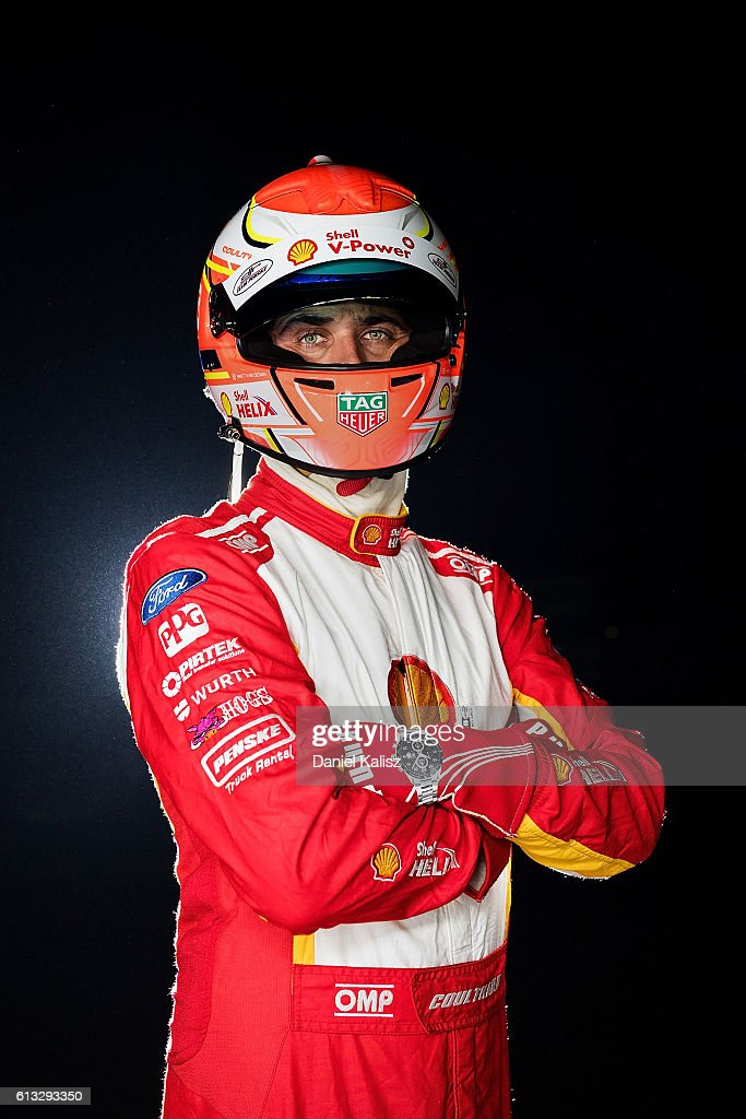 Fabian Coulthard driver of the #12 DJR Team Penske Ford Falcon FGX poses for a photo after the Top Ten Shootout for the Bathurst 1000, which is race 21 of the Supercars Championship at Mount Panorama on October 8, 2016 in Bathurst, Australia.