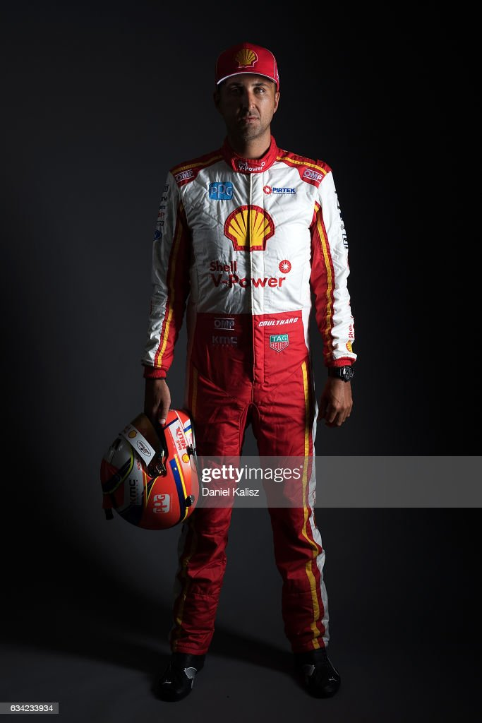 Fabian Coulthard driver of the #12 DJR Team Penske Ford Falcon FGX poses during a portrait session during the 2017 Supercars media day on February 8, 2017 in Adelaide, Australia.