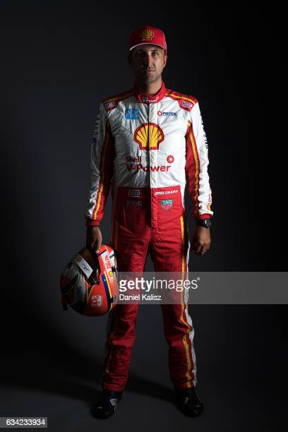 Fabian Coulthard driver of the DJR Team Penske Ford Falcon FGX poses during a portrait session during the 2017 Supercars media day on February 8 2017...