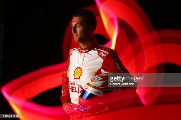 Fabian Coulthard driver of the DJR Team Penske Ford poses during a V8 Supercars portrait session on March 3 2016 in Adelaide Australia