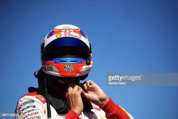 Fabian Coulthard driver of the Shell VPower Racing Team Ford Falcon FGX during race 1 for the Clipsal 500 which is part of the Supercars Championship...