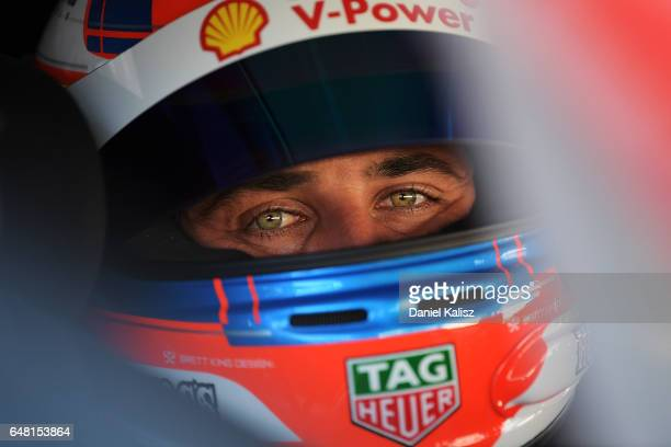 Fabian Coulthard driver of the Shell VPower Racing Team Ford Falcon FGX during qualifying for race 2 of the Clipsal 500 which is part of the...