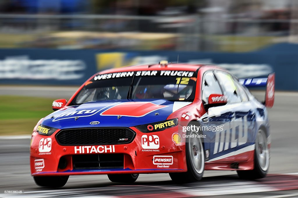 Fabian Coulthard drives the #12 DJR Team Penske Ford Falcon FGX during practice for the V8 Supercars Perth SuperSprint at Barbagallo Raceway on May 6, 2016 in Perth, Australia.