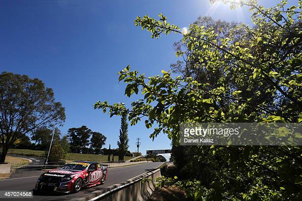 Fabian Coulthard drives the Lockwood Racing Holden during practice for the Bathurst 1000 which is round 11 of the V8 Supercars Championship Series at...