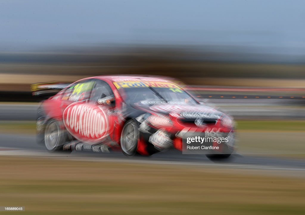 <a gi-track='captionPersonalityLinkClicked' href=/galleries/search?phrase=Fabian+Coulthard&family=editorial&specificpeople=678657 ng-click='$event.stopPropagation()'>Fabian Coulthard</a> drives the #14 Lockwood Racing Holden during race five of round two of the V8 Supercar Championship Series at Symmons Plains Raceway on April 7, 2013 in Launceston, Australia.